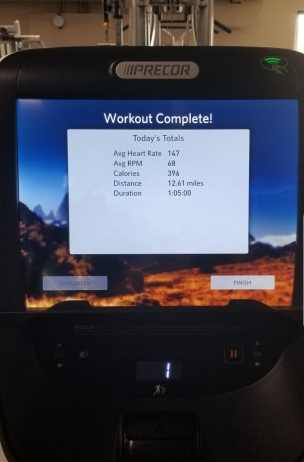 Workout Summary for 9.3.19