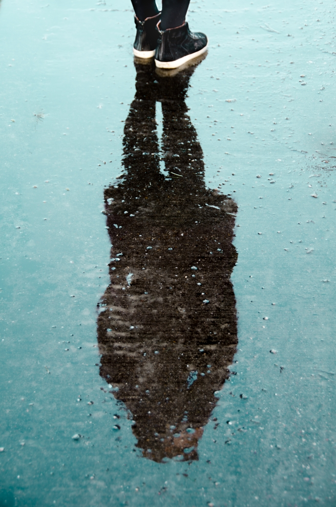 Blog post Picture 10.22.19 Shadow of Person on Water during Daytime