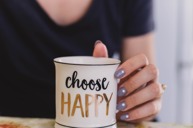 Blog Post Picture 10.5.19 Choose Happy Mug